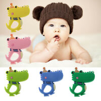 Baby Cute Bow Hat Baby Ring BPA Free Silicone Teething Toy Teether Beads DIY Q