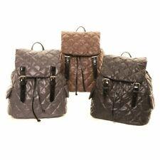 Hawkins Diamond Quilted Ladies Body Bag Backpack School Kids Patent Rucksack Bag