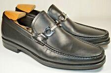 "Brand New Salvatore Ferragamo ""Gancini"" Bit Loafer Black Size 11 EE Wide"