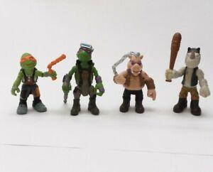 "2016 Viacom Playmates TMNT 2.5"" Figures- Donatello Michelangelo Bebop Rocksteady"