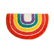 Home Absorbent Rainbow Pattern Mat Pad Bathroom Floor Shower Rug Non-slip Carpet