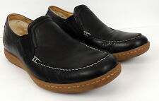 Ugg Mens 13? Black Leather Shoes Loafers Slip On Moccasin