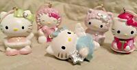 5 Mini Hello Kitty Christmas / Holiday Tree Ornaments