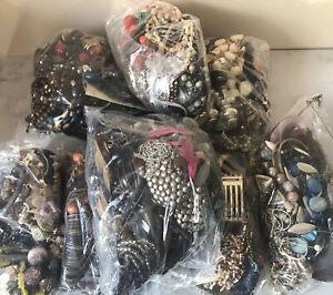 1kg Job Lot Jewellery Costume Mixed Wear Resell Craft Dress Up Bundle