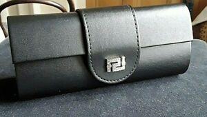 VERSACE Spectacles Glasses Hard Leather Luxury Case Crystal Embellishment Logo