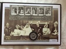 Limited Edition Stamp Set - Platinum Wedding Anniversary Silver Coin Cover