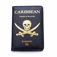 New Viking Passport Cover Male Blocking Skull Case Travel Pirates Of Caribbean