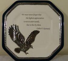 "John F. Kennedy Commemorative Plate 10"" x 10"" - Cracker Barrel"