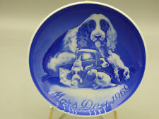 B&G Bing & Grondahl Mother's Day 1969 Collector Plate Dog with Puppies Denmark