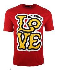 LOVE MOSCHINO LOGO PRINT T-SHIRT RED YELLOW