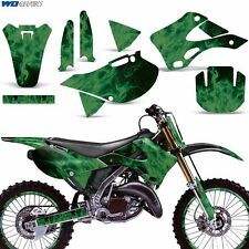 FULL Graphics Kit for Kawasaki KX125 KX250 99-02 Dirtbike MX Motocross Decal ICE