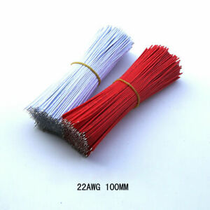 100pcs Jumper Wire 22AWG Cable Double Head Tinned Wire Length 100mm Green Purple