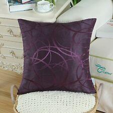 "CaliTime Throw Pillows Covers Both Sides Modern Circles Rings Sofa Decor 18""x18"""