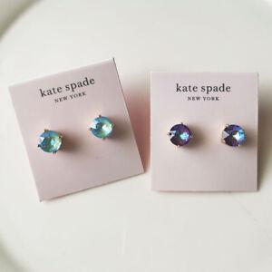 New Kate Spade Round Stud Earrings Gift Fashion Women Jewelry 2Colors Chosen