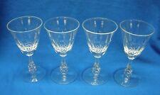 4 Tiffin-Franciscan Crystal Astral Pattern Claret Glasses