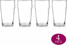 Modvera Drinkware Beer Glass Perfect For Pub Home Bar Drinking 20 oz 4 Pack