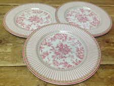 Royal Doulton Provence Rouge Flowers Fruits Red 3 Salad Plates England TC1289
