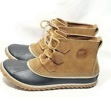Women's SOREL Size 8 Out N' About Elk Leather Outdoors Duck Boots NL2133-286