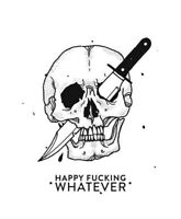 "3"" Sticker Creepy Death Pink Skeleton Horror Psycho Evil Cult Cool Halloween"