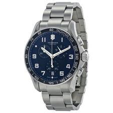 Victorinox Chrono Calssic XLS Blue Dial Steel Bracelet Mens Watch 241652-AU