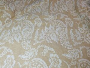 Vintage 2010 Pottery Barn Alessandra Linen Blend Lined Curtain 50x82 Golden