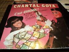 """LOT DE 3 VINYLE 33 TOURS """"CHANTAL GOYA"""" dont 1 dedicace (C'est Guignol)"""
