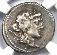 L. Cassius Qf. Longinus AR Denarius Silver Coin 78 BC - Certified NGC VF - Rare!