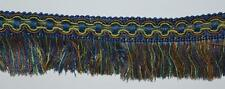 1 meter  Curtain Cut  Fringe Trimming   Green / Blue   5 cm- PL-3466