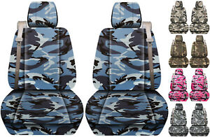 Fits Chevy trailblazer / GMC envoy front set car seat cover urban camo choose