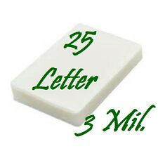 25 LETTER Laminating Laminator Pouches Sheets 9 x 11.50  5 Mil (25 pack)