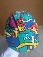 Vintage 90s Kromer Welding Hat Neon Rainbow Baseball Cap Hip Hop Abstract Art