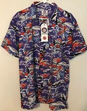 NWT Mens One Resolution Flying To Hawaii Shirt Size L Palm Plane Purple