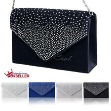 Womens Party Bridal Evening Clutch Handbag Purse Diamante Ladies Bags Fashion