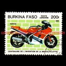 HONDA VF 1000 R 1984 - BURKINA FASO : Timbre Poste Moto
