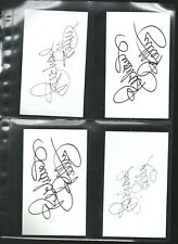 (4) RICHARD PETTY AUTOGRAPH/AUTO/HAND-SIGNED INDEX CARD 3X5  B