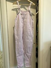 LUCY And YAK ORGANIC COTTON LIMTED EDITION SCOUT Bleached DUNGAREES S32