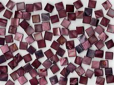 50g Burgundy Pearl Shell 1010 Square Mosaic Tile 10mmx10mmx2mm Shell Tile Border