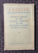 1950 Political Report Commitee 15th Congress CPSU by STALIN VG+ 144p Communist
