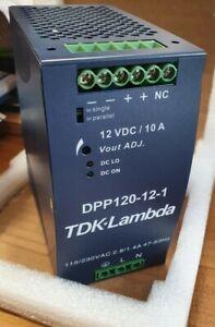 DPP120-12AC/DC DIN Rail Power Supply (PSU), ITE, 1 Output, 120 W, 12 VDC, 10 A