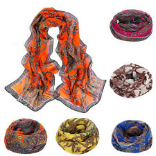 Fashion Womens Scarves Voile Stole Neck Scarf Long Scarves Shawls and Scarves