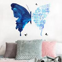 PVC Butterfly Living Room Bedroom Bathroom Wall Sticker Art Mural DIY Home Decor
