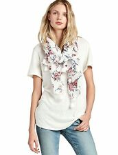 Lucky Brand - NWT - Navy Blue & Pink Floral Vine Print 100% Cotton Scarf