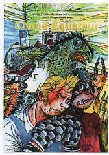 Carte postale Les pastiches de Tintin. Chaud Equateur. Tirage limité Czarlitz.