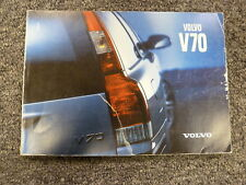 2001 Volvo V70 Wagon Owner Owner's Manual User Guide Wagon 2.4 T5 XC