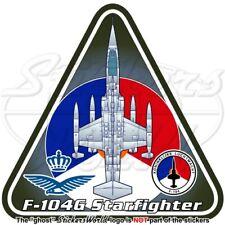 F-104 STARFIGHTER NIEDERLANDE Lockheed-Fokker F-104G Dutch KLu Aufkleber