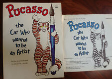 Pucasso: The Cat who Wanted to be an Artist book with record! edward r. lipinski
