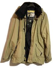FUSION 10 Mens Designer Performance Weatherproof Jacket Mustard Beige Navy Sz L