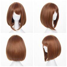 Anime My Hero Academia Ochako Uraraka Short Wig Cosplay Costume with Wig Cap
