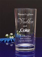 Personalised VODKA & Coke HI-BALL, Tumbler glass/present/gift 118