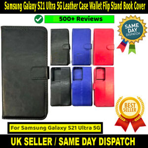 Samsung Galaxy S21 Ultra 5G SM-G998B Leather Case Wallet Flip Stand Book Cover